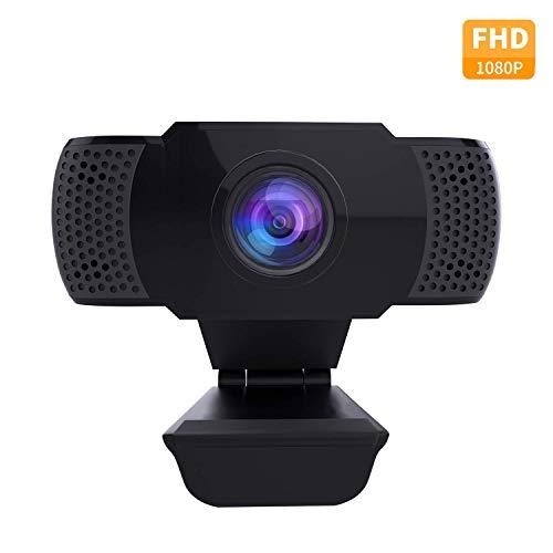wansview Webcam 1080P mit Mikrofon, PC Laptop Desktop USB 2.0 Full HD Webkamera für Videoanrufe, Studieren, Konferenzen, Aufzeichnen, Spielen mit drehbarem Clip