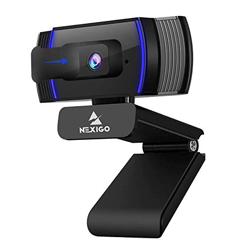 NexiGo Autofokus 1080P HD Webcam mit Stereo Mikrofon and Abdeckung, FHD USB Computer Web Kamera, für Streamen von Online-Kursen, Kompatibel mit Zoom / Skype / Facetime / Teams, PC Mac Laptop Desktop