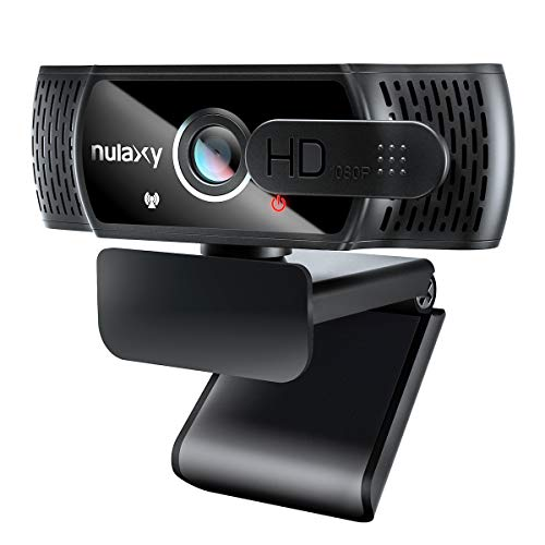 NULAXY C900 Webcam FHD 1080P mit Mikrofon und Datenschutz Abdeckung, Plug & Play, Laptop PC Webkamera für Video-Streaming, Konferenz, Spiele, Kompatibel mit Windows/Linux/Android
