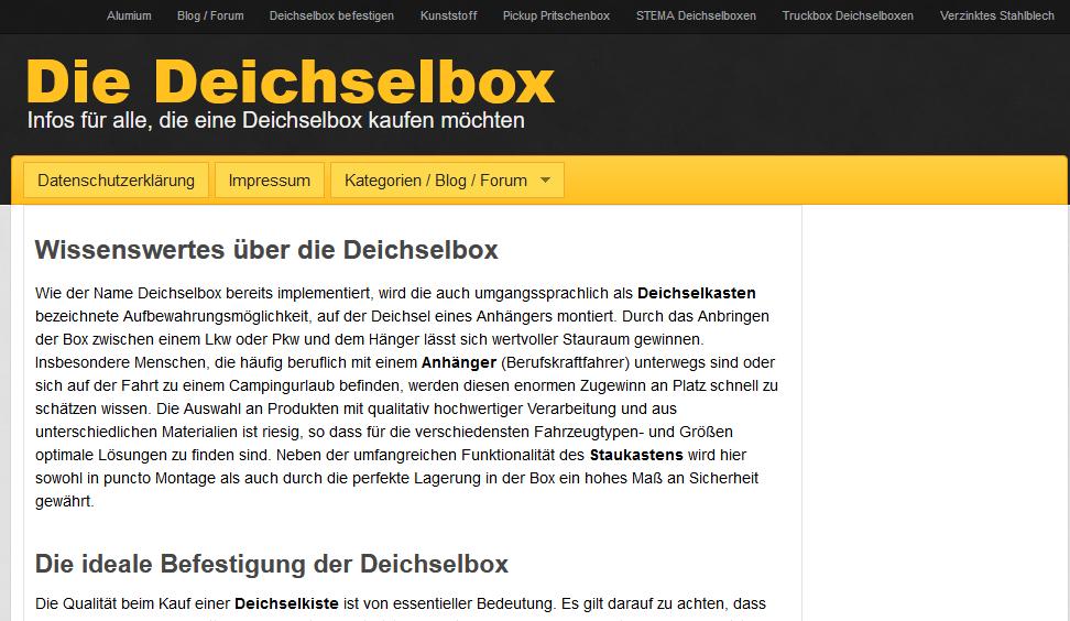 Deichselbox