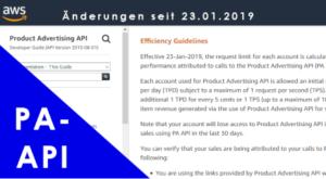 Startseite Amazon API Änderungen