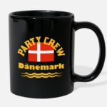 Kaffeebecher Partycrew Dänemark